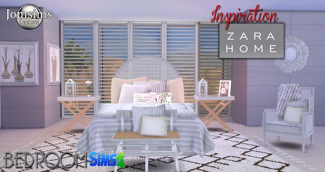 My Sims 4 Blog Zara Home Bedroom Set By JomSims
