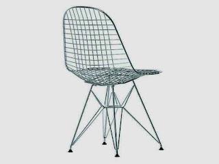 Krzesło druciane Eams DKR Wire