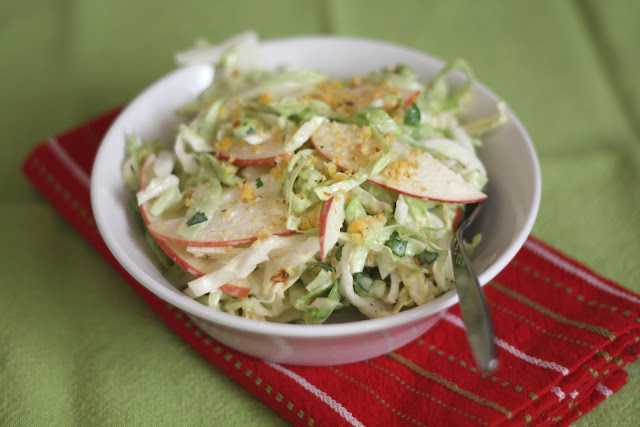 Sweet and Spicy Apple Coleslaw recipe by Barefeet In The Kitchen