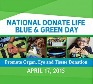 NATIONAL BLUE AND GREEN DAY APRIL 17, 2015