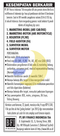 Recruitment PT. BFI Finance Indoneisa, Tbk