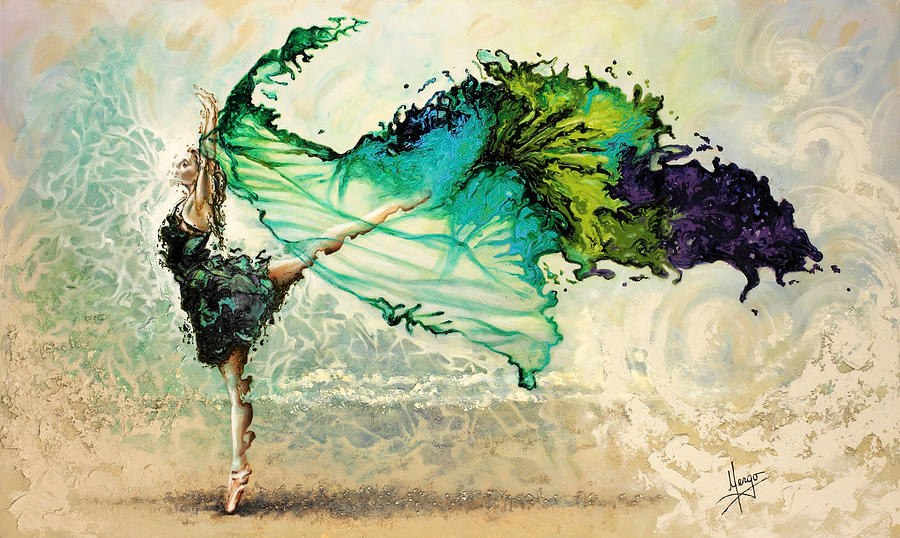 Karina llergo salto dance through the color of life for Amazing art paintings