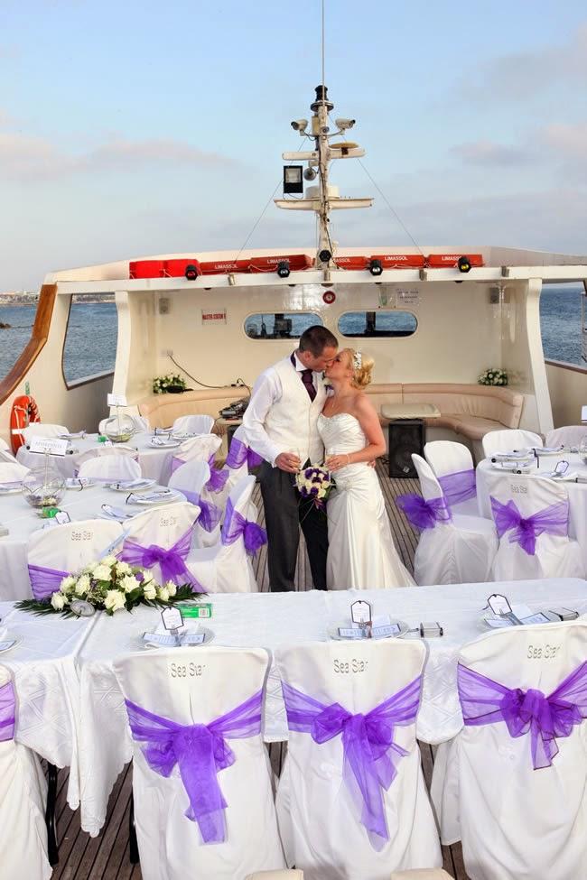 mariage luxueux de la vie réelle sur un yacht à Chypre