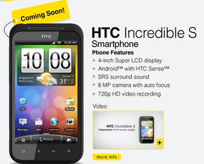 HTC Incredible S for DiGi Malaysia Soon. HTC Incredible S  has a 4inch giant monitor with 480×800 resolution