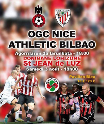 Athletic Bilbao - OGC Nice à St-Jean-de-Luz #sport #foot #paysbasque