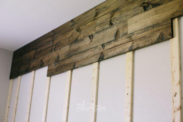 Paredes revestidas con madera reciclada