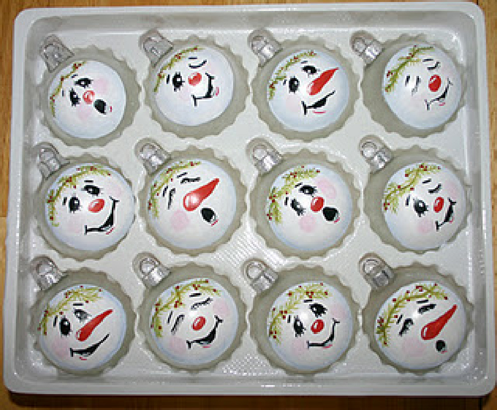 Mud pie studio christmas ornaments cupcakes snowmen for Home craft expressions decor
