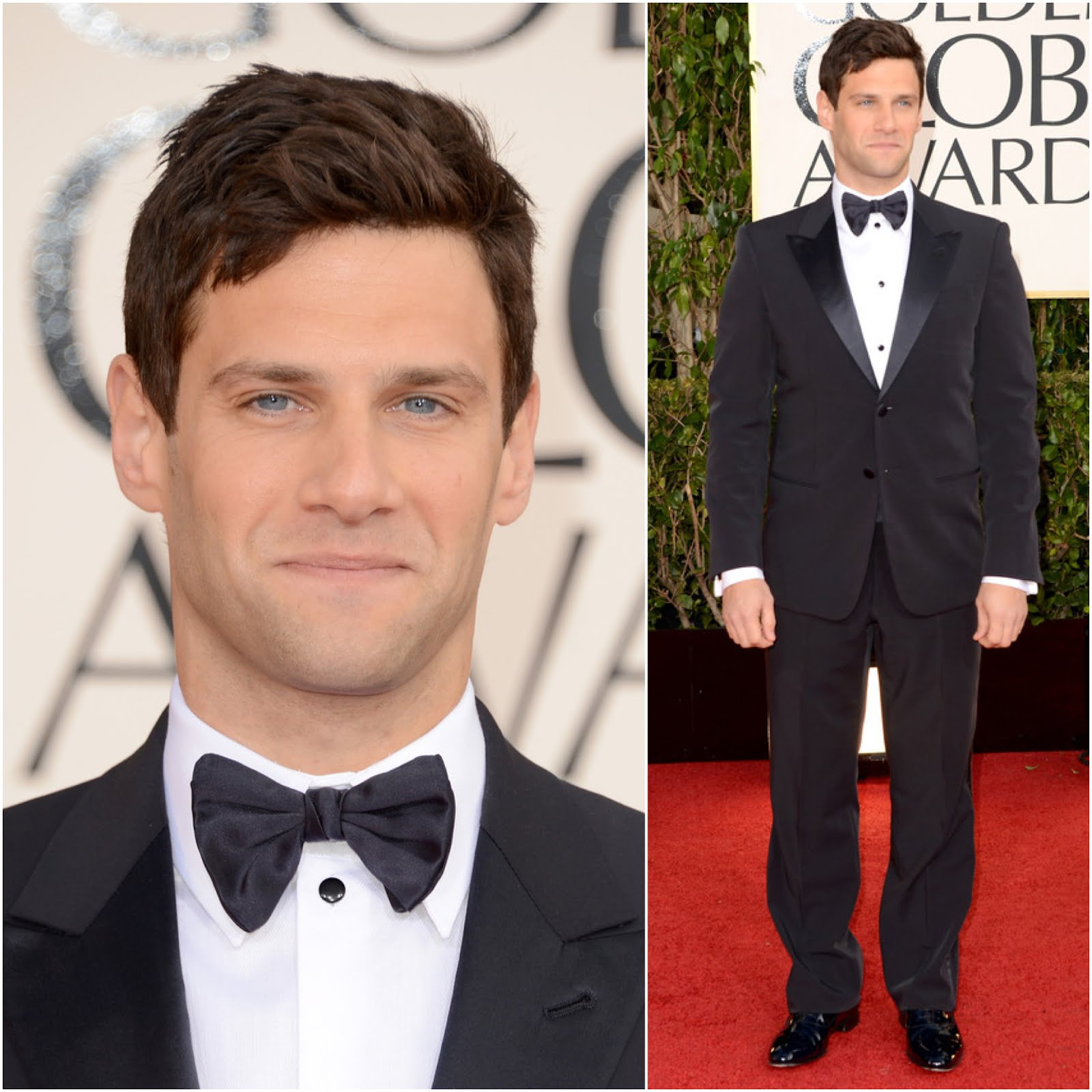 00O00 Menswear Blog Justin Bartha in Giorgio Armani - 70th Annual Golden Globe Awards