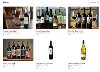 Screencap of Facebook's Gifting page, showing wine for sale.