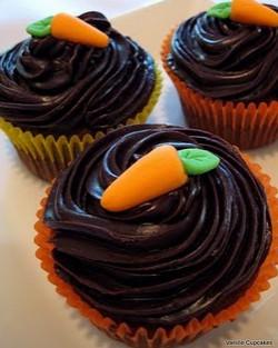 Cupcake de cenouras de páscoa