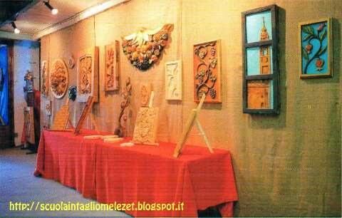 mostra dedicata ai lavori della Scuola Intaglio Melezet