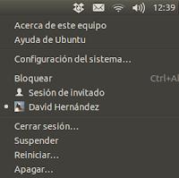 Menú apagar en Ubuntu 12.10, novedades ubuntu 12.10