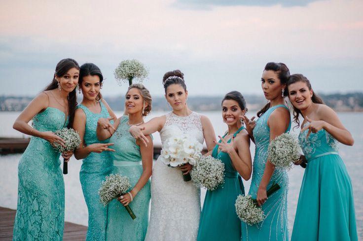 Populares Maquiagem para usar com vestido tiffany, verde água e azul  CJ43