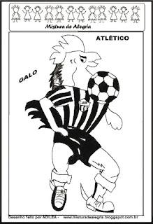 Desenho do galo - mascote do atlético