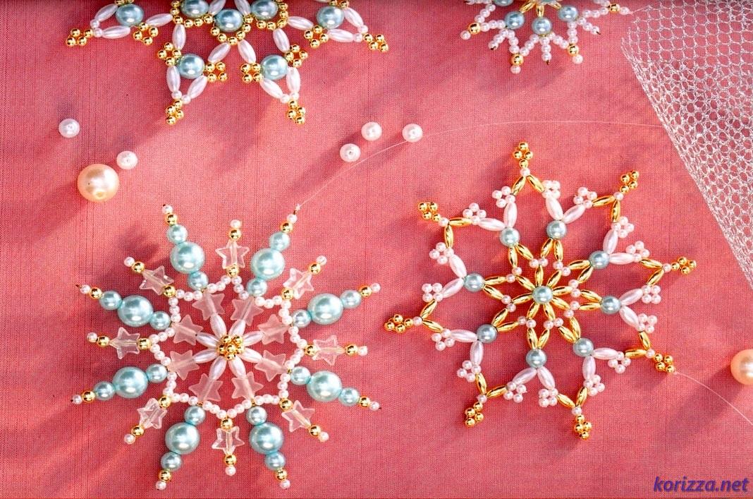 Поделки снежинки из бисера