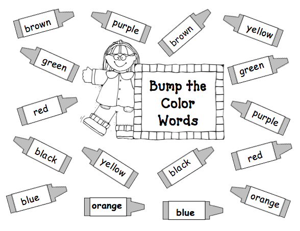 First Grade Best: Color Word Bump Game