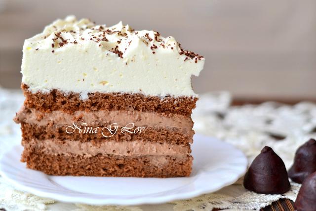 """Шоколадный торт """"Кофе со сливками"""""""
