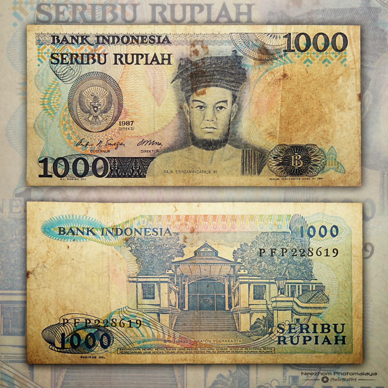 Indonesia banknote 1000 Rupiah year 1987