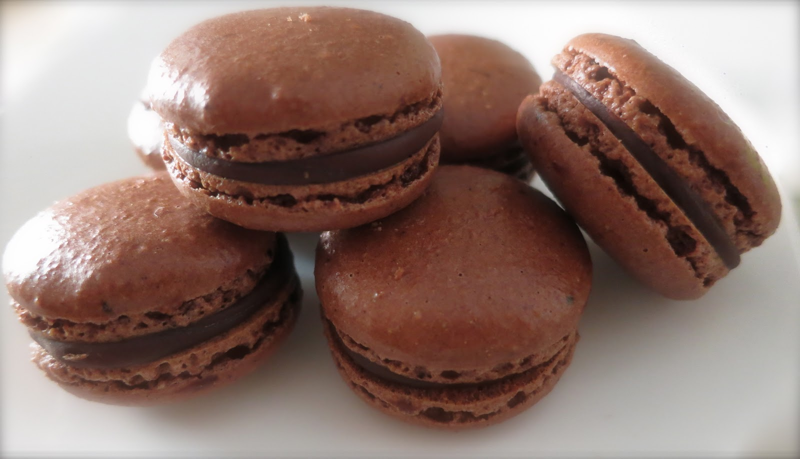French Chocolate Macarons With Chocolate Ganache Recipe — Dishmaps