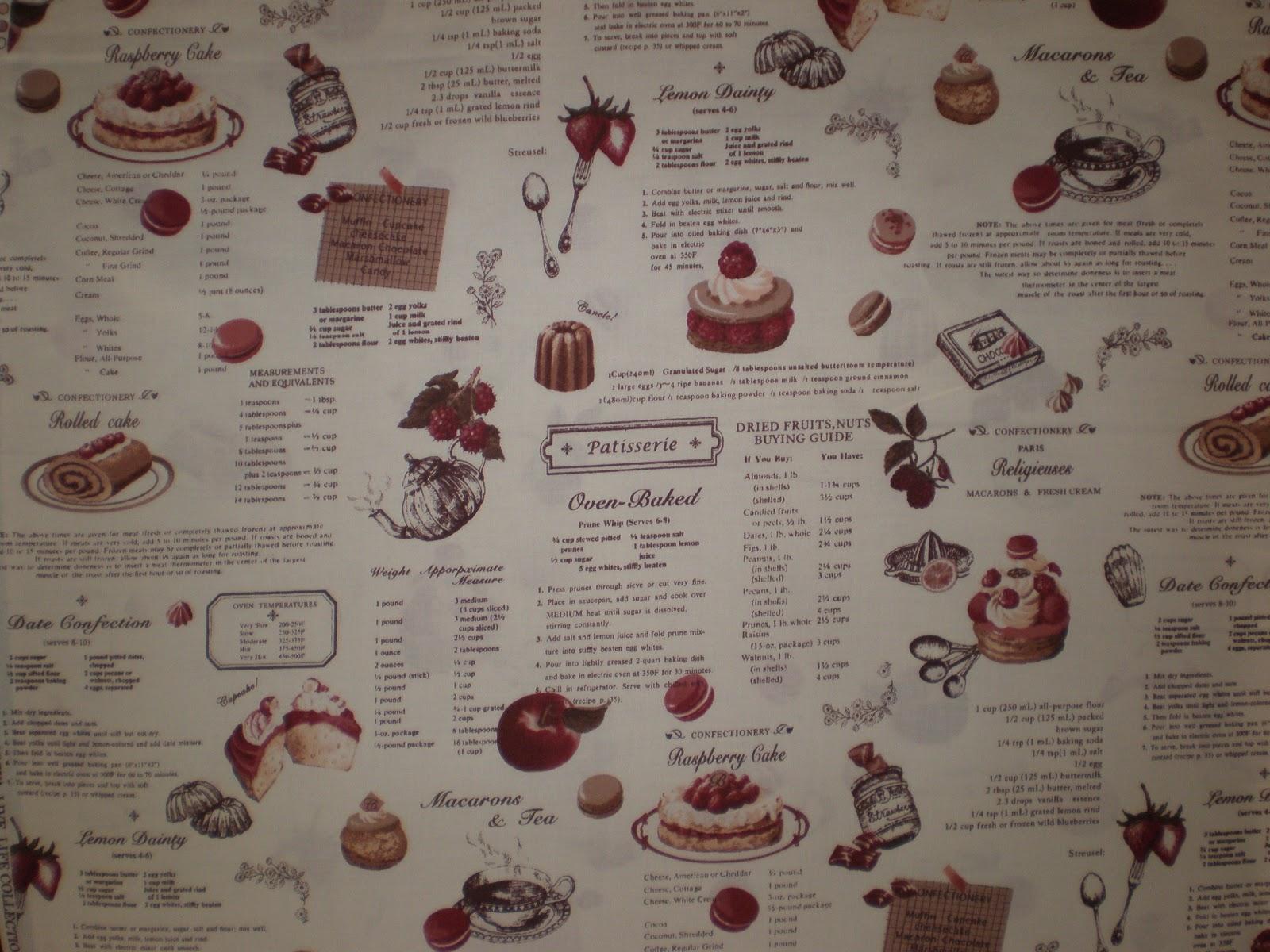 Patchwork y algo m s madrid telas con motivos de cocina for Telas de cocina