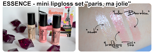 essence mini lipgloss set PARIS, MA JOLIE