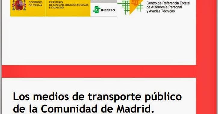Logopedia en especial los medios de transporte p blico de for Correo comunidad de madrid