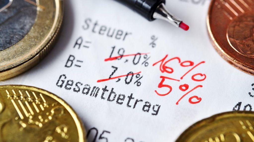 Neue Preise durch Steuersenkung