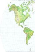 Mapa Físico de America