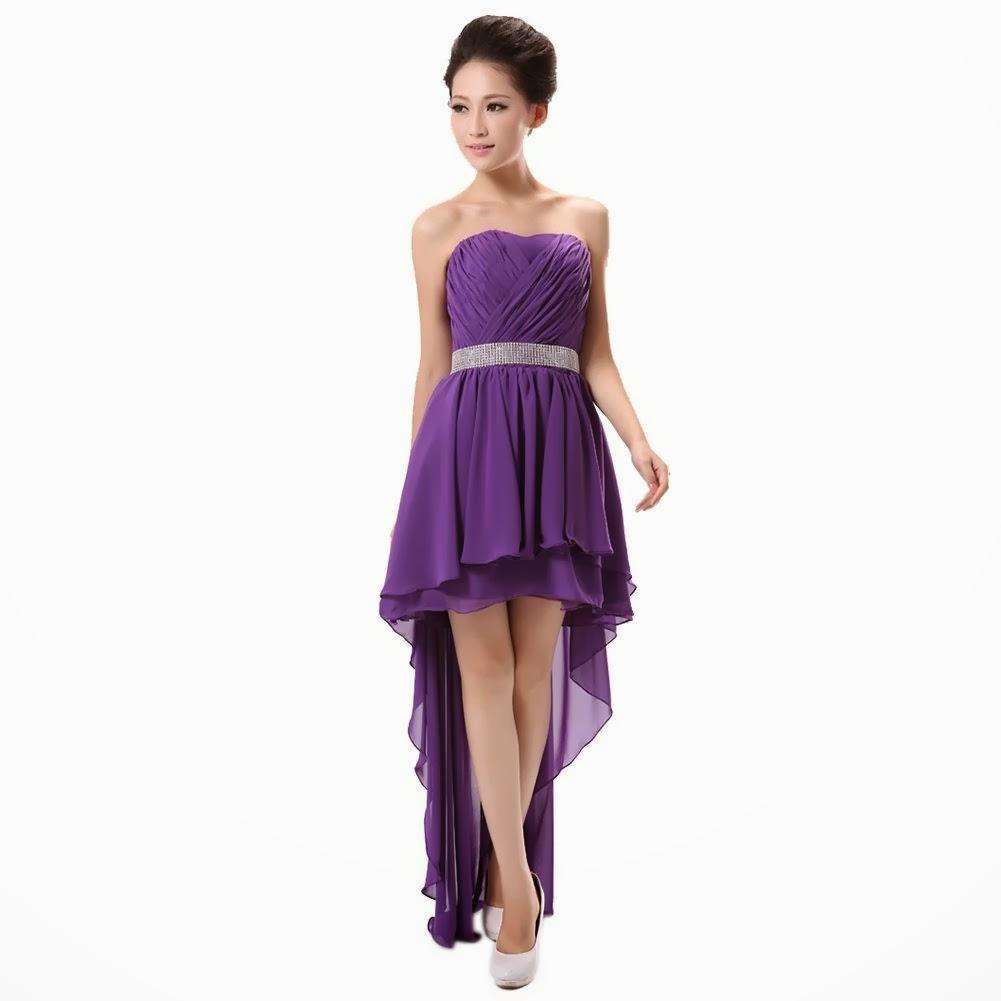 Dark Purple Bridesmaid Dresses Short - Wedding Dresses