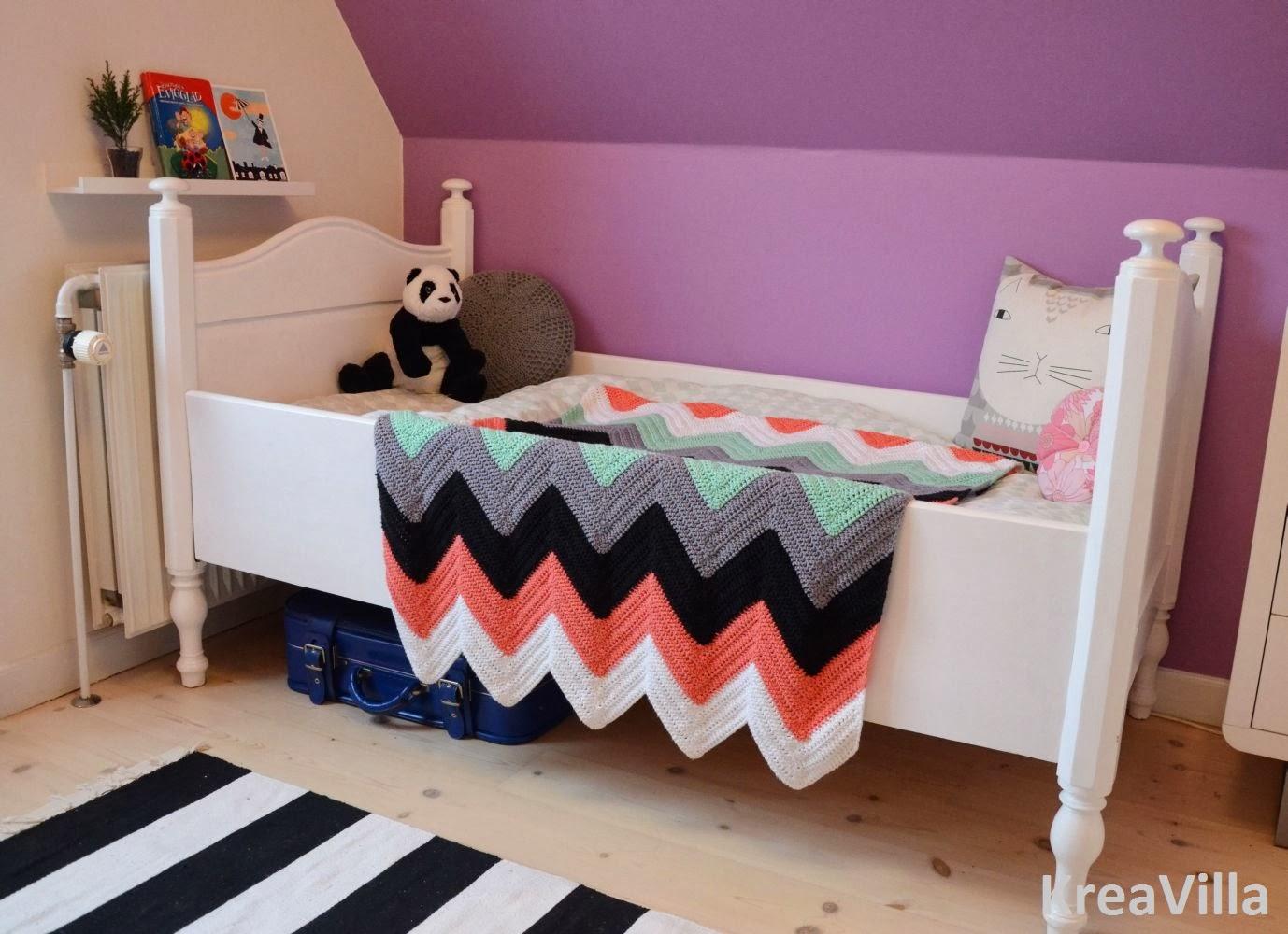 Zigzagtæppe på børneværelset | KreaVilla