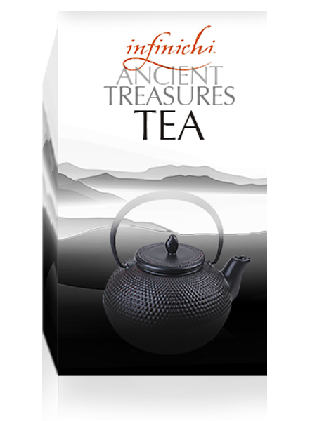 "Infinichi Ancient Treasures Tea 40 ct - New ""On the Go"" Individually Wrapped - Have Tea Will Travel"