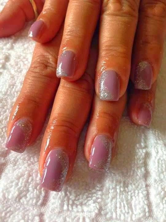 Acrylic backfill + LED polish manicure