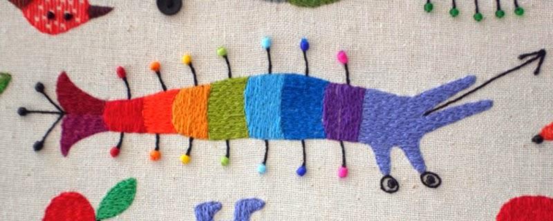 Animales coloridos cosidos a mano de Ivan Semesyuk