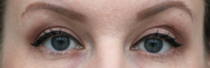 Two coats of Cover Girl Clump Crusher mascara