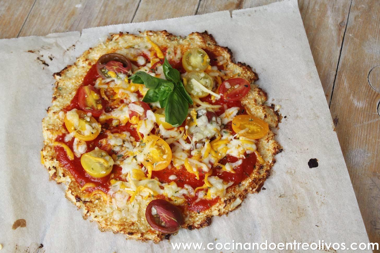 Cocinando entre olivos pizza de coliflor receta paso a paso for Cocinando entre olivos