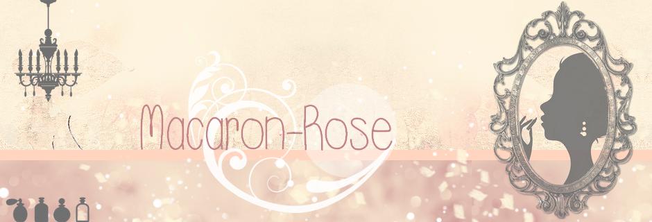 Macaron rose, rose, rose, rose