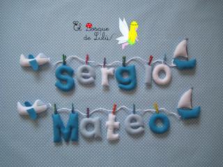 nombre-en-fieltro-Sergio-Mateo-decoración-infantil-hecho-a-mano-regalo-nacimiento-