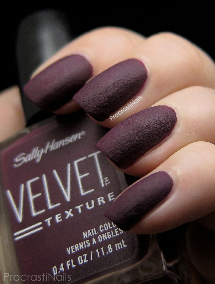 Swatch of Sally Hansen Velvet Texture in Lavish