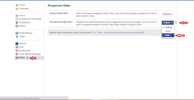 Cara Mematikan Fitur AutoPlay Di Facebook