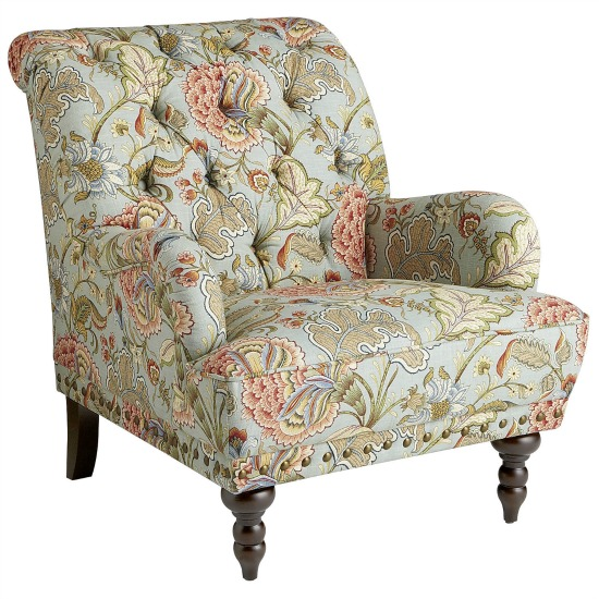 If I forgo the floral Waverly fabric I could easily see this chair from  PierOne in our living room! I adore it but do have reservations about how  well it ... - From My Front Porch To Yours: The Living Room