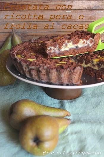 Crostata con ricotta e pera