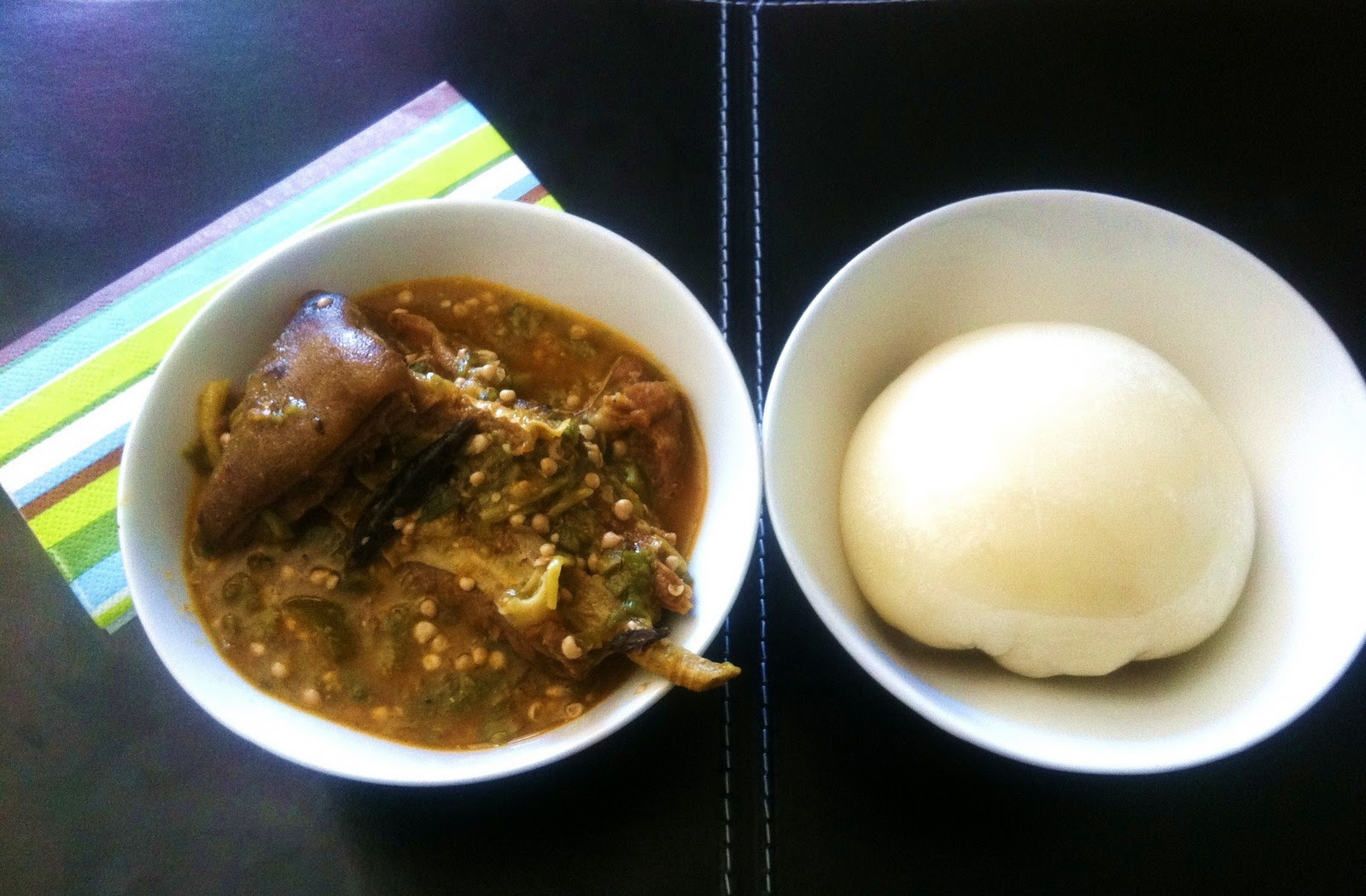 Fufu okra with goat meat and dried cod recipe dans for Ma cuisine