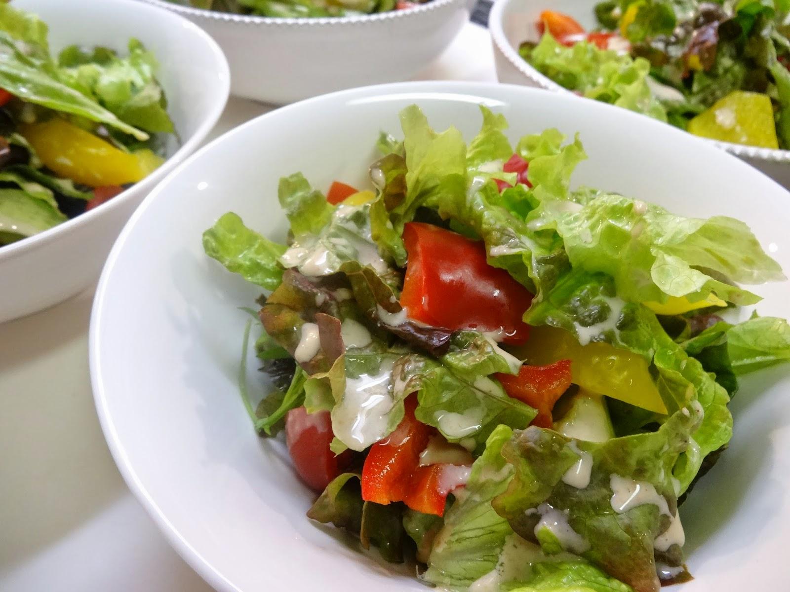 親戚家族の上京に合わせた家族のご飯会:彩り野菜の冷温サラダ