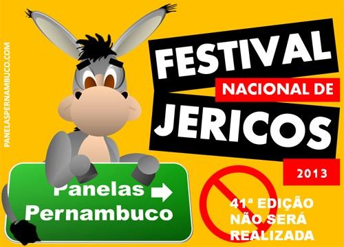 Pela primeira vez o Festival Nacional de Jericos não será realizado