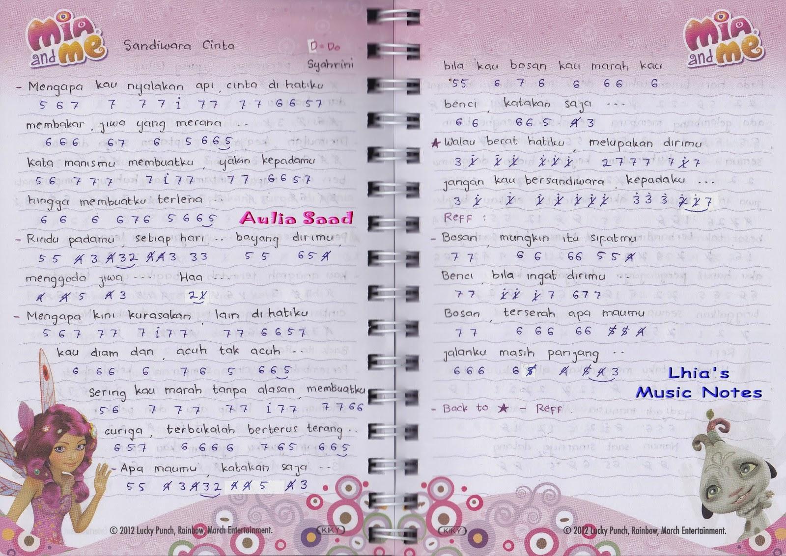 Lirik Lagu Papinka Sayang Terima Kasih Untuk Semua