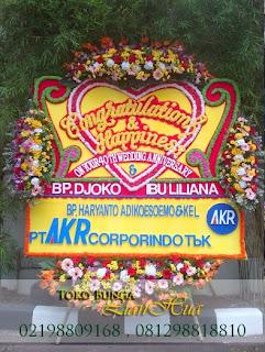 karangan Bunga papan anniversary dan ulang tahun