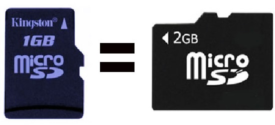 Convert a 1 GB Memory Card to 2 GB