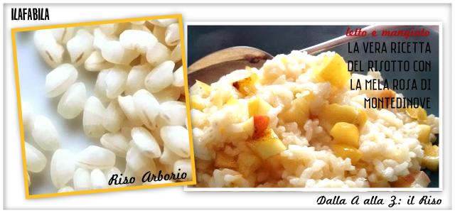 Riso Arborio - La Vera Ricetta del Risotto con la Mela di Montedinove - Letto e Mangiato