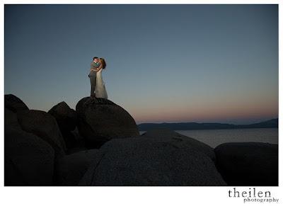 Beautiful Lake Tahoe sunset photo at Kehlet Mansion l Meeks Bay Resort Wedding l Theilen Photography l Take the Cake Event Planning