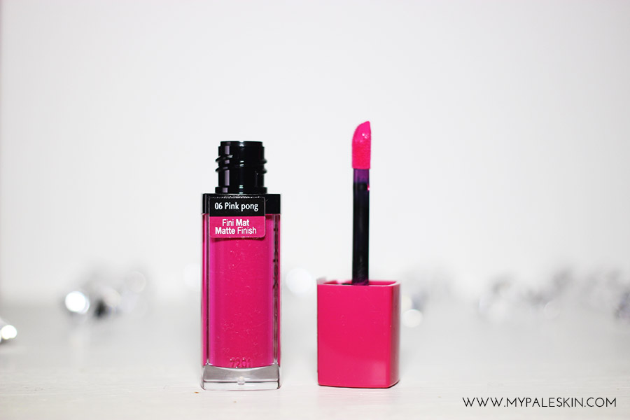Bourjois Rouge Edition Velvet, Pink Pong, Review, Pink Lipstick, Pale Skin, Swatch, Bourjois, Rouge, My Pale Skin, 06